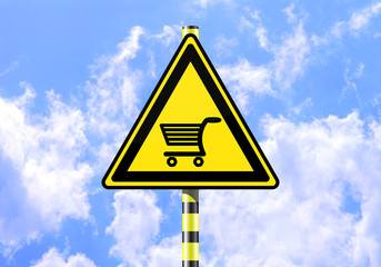 CART SHOPPING ROAD SIGN