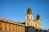 Church of the Holy Cross and Tenement Houses in Warsaw poster