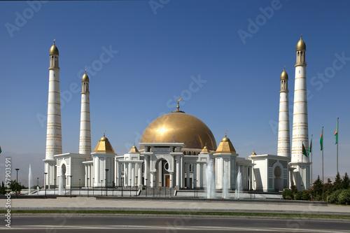 Mosque in native village of first president of Turkmenistan Niya - 57903591