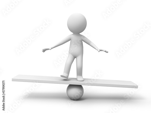 Man with balance board