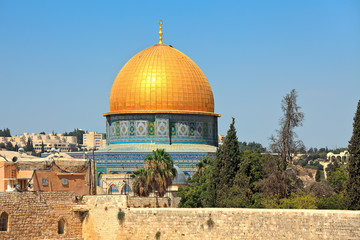 Dome of the Rock mosque.