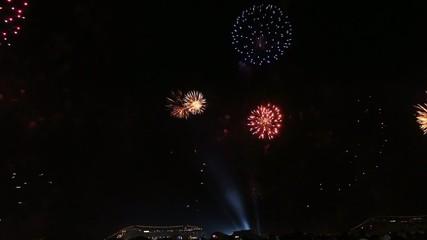 fireworks in Rio de Janeiro