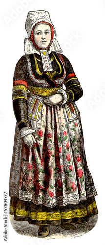 Traditional Breton - Bretonne - 19th century