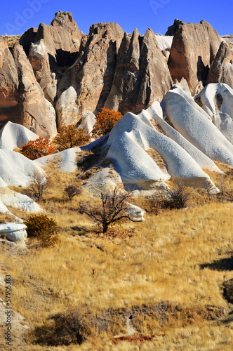 Rocks of Cappadocia in Central Anatolia, Turkey