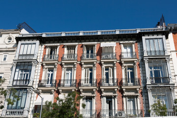 Elegant building facade in Madrid