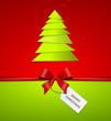 Schleife mit Weihnachtsbaum