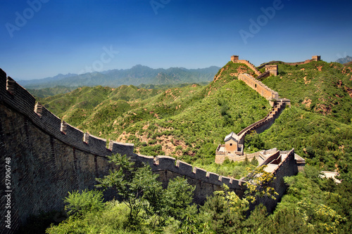 Foto op Aluminium Chinese Muur The Great Wall of China near Jinshanling on a sunny summer day