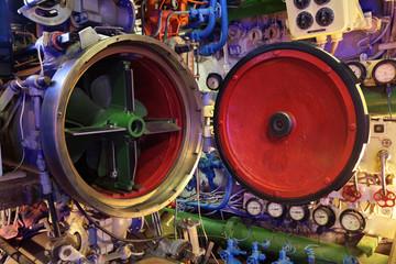 Torpedo in submarine