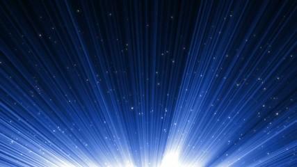 голубой фон с лучами света