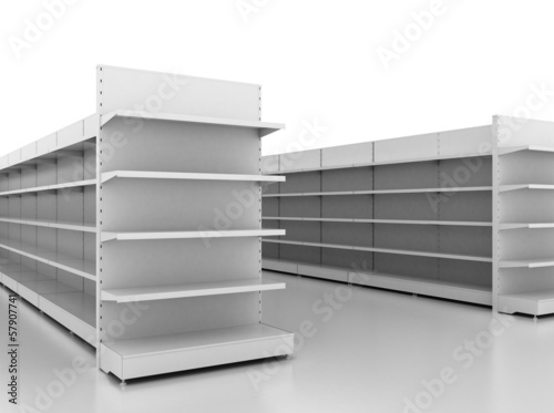 Empty retail shelves