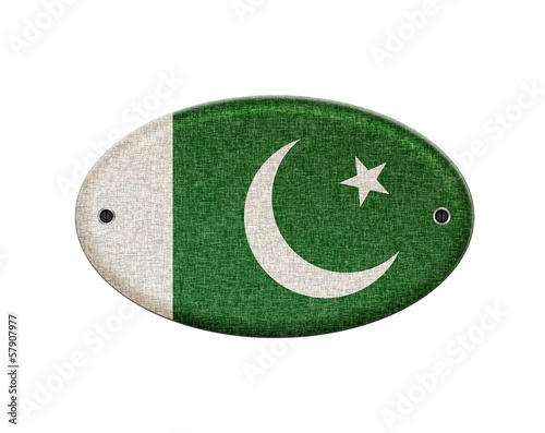 Wooden sign of Pakistan.