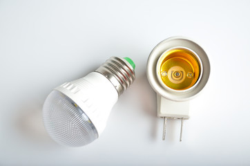 Led lamp and lamp power