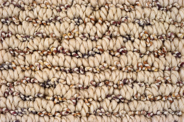 Very close view of a braided carpet