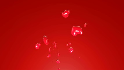 Spring of red love hearts for valentine's day