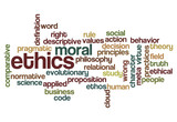 ethics moral philosophy background poster