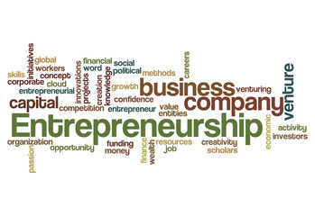 entrepreneurship word cloud concept