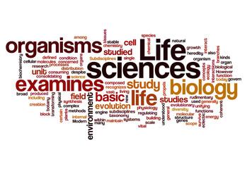 life sciences biology concept background