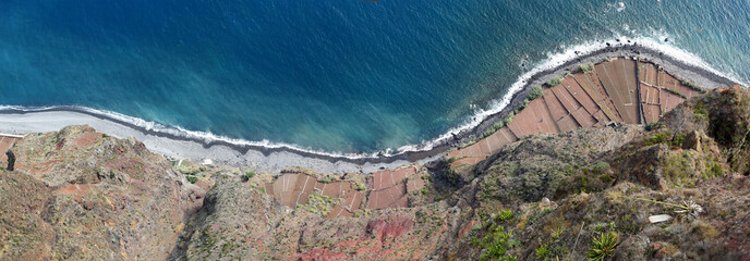 Terraced fields below Cabo Girao (Madeira)