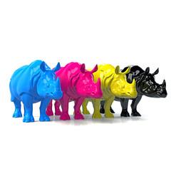 CMYK Rhinos