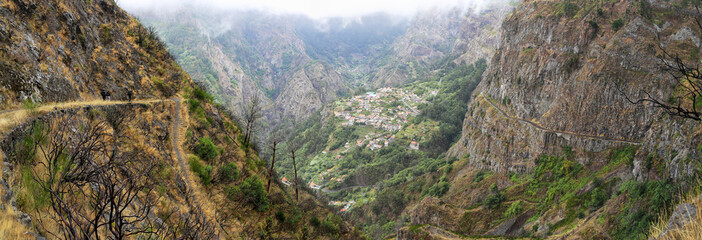 Trail to the Valley of the Nuns (Madeira, Portugal)