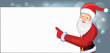Santa with a banner - vector illustration