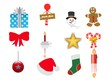 Christmas icons set