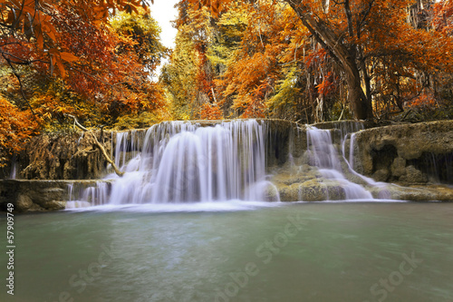 Obraz na Plexi Autumn Waterfall