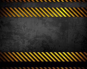 black metal with warning stripes