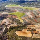 aerial of rural landscape nar Madrid