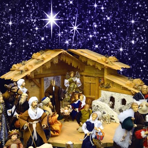 Fototapeten,weihnachtslichter,krippe,weihnachten,advent