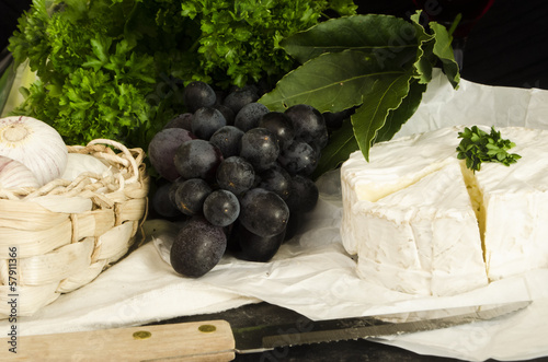 camembert and fresh ingredients