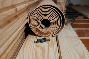 Preparing for an installation of the floor battens