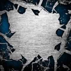 cracked iron background