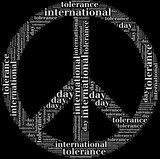 Tag or wor cloud international tolerance day related poster