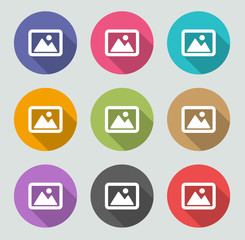 Pictures icon - Flat designs