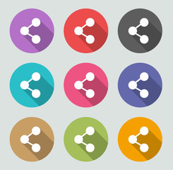 Share icon - Flat designs