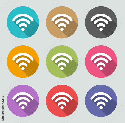 WiFi - Flat designs