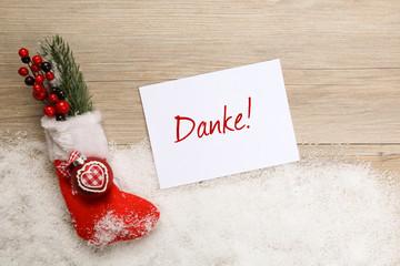 Karte Weihnachten Danke