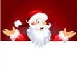 Santa Gruß präsentiert Weihnachten Hintergrund