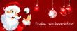 Weihnachtsmann wünscht frohe Weihnachten