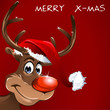 Rudolph wishes merry x-mas