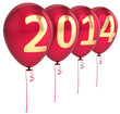New Year 2014 balloons party holiday decoration celebration