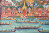 THAI MURAL PAINTING ON THE WALL #1
