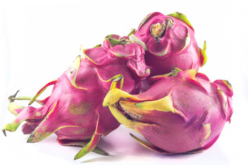 Dragon fruit isolated against white