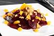 insalata di barbabietola con arancia e noci