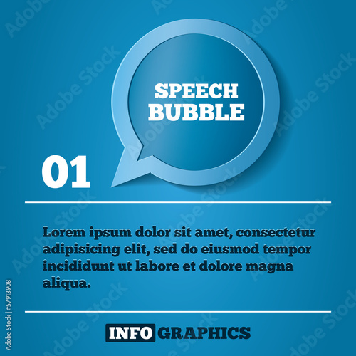 Speech bubble step background. For infographics.