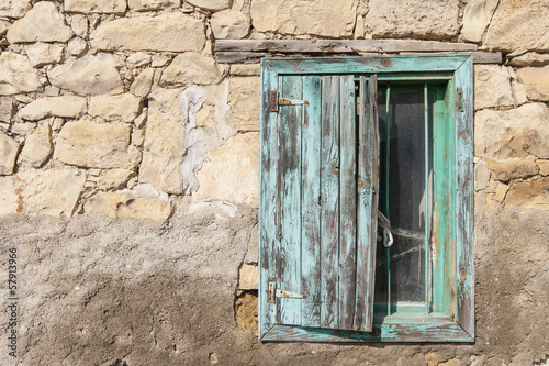 Window of a house in Country side, Anatolia, Turkey