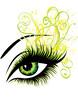 Beautiful female green eye