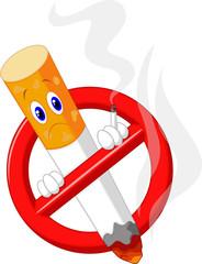 No smoking cartoon symbol