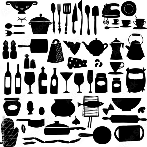 vector Kitchen tools